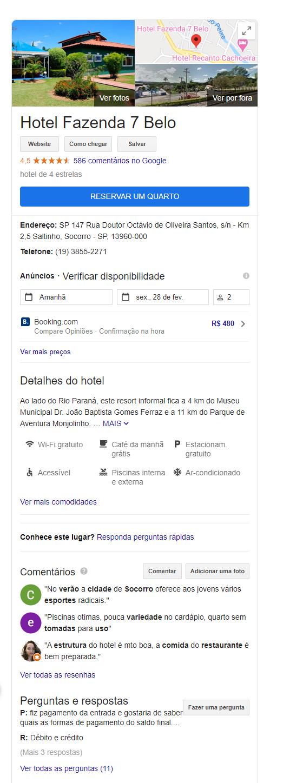 Perfil do Google Meu Negócio