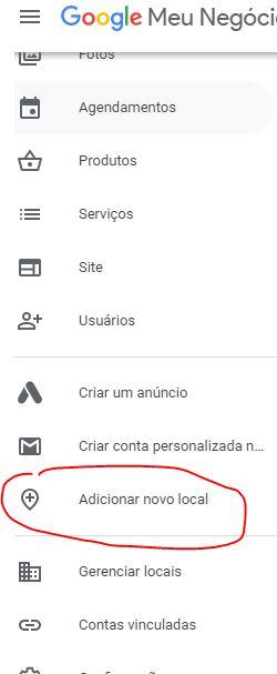 Adicionar Novo Local no Google Meu Negócio