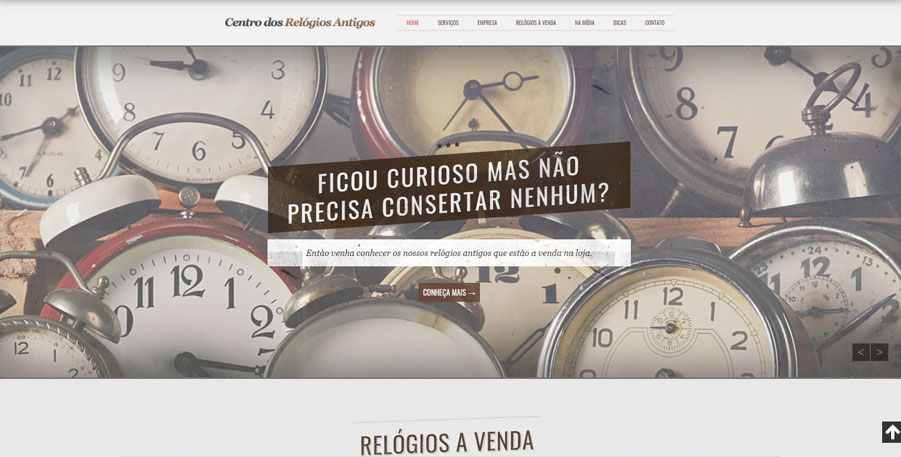 Site Centro dos Relógios Antigos