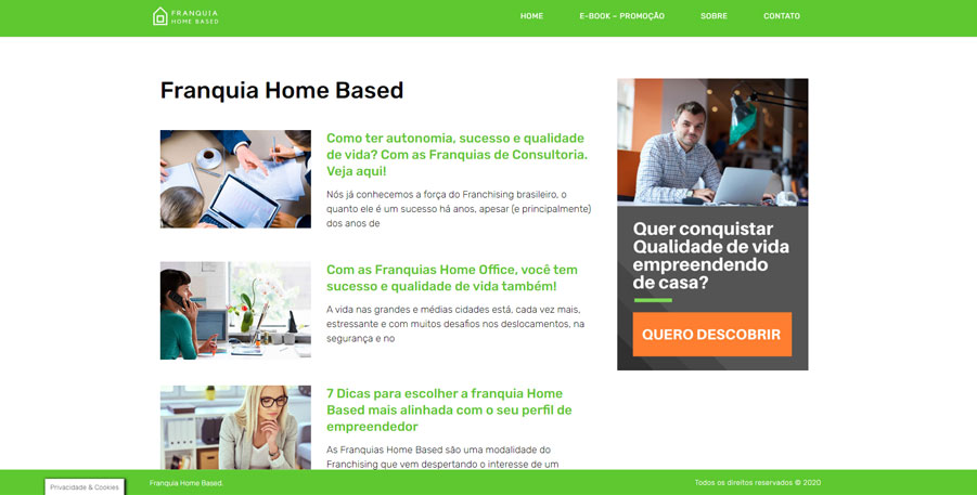 Site Franquia Home Based