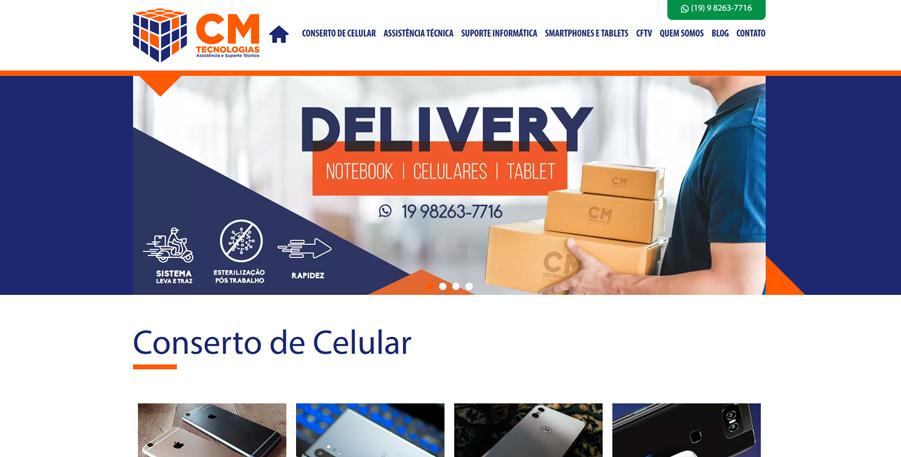 Site CM Tecnologias