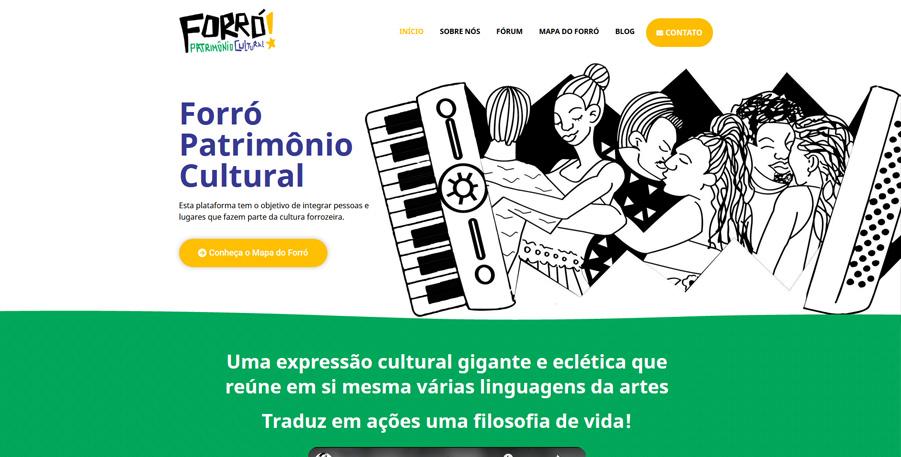 Site Forró Patrimônio Cultural