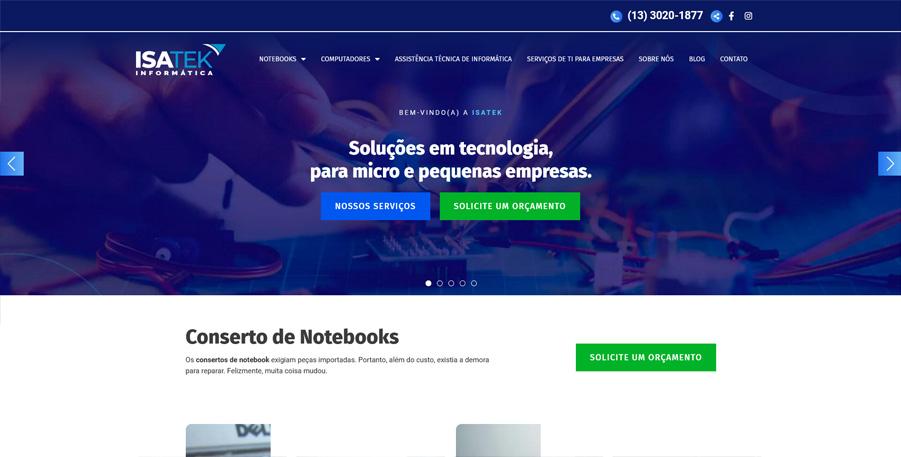 Site Isatek Informática